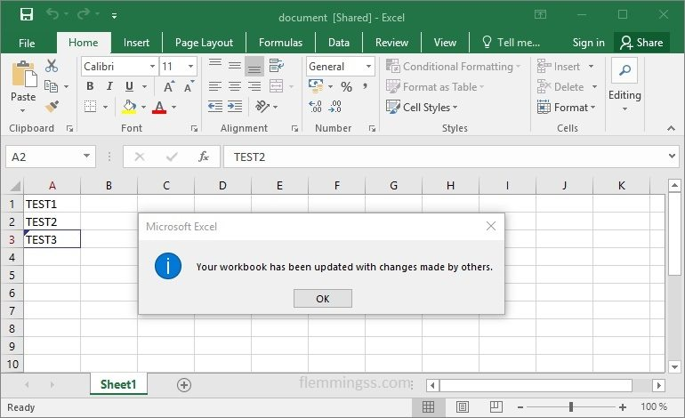 How to create a shared Excel document that multiple users can edit at the  same time - Flemming's Blog
